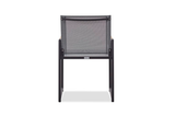 Shown in Aluminum Asteroid Frame, Teak Accents and Black Batyline