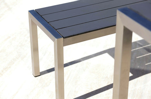 Shown in Stainless Steel Frame and Syn-Teak Grey Top