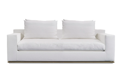 Shown in Italian Washed Linen White