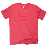 Cincinnati Ohio Square Tee - Red
