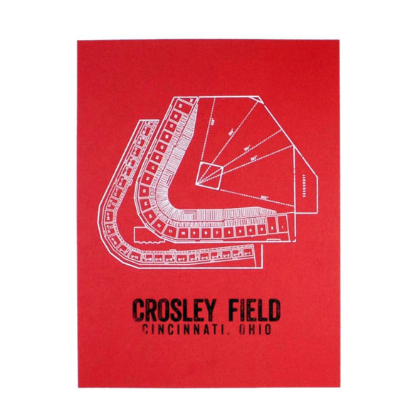 The Rivertown Inkery Hand-pulled Screen Print Crosley Field Seating Chart Print