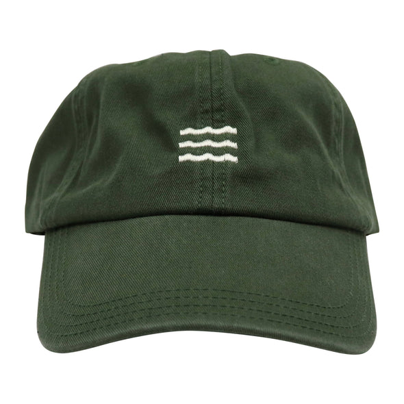 The Rivertown Inkery Hat Green Waves Cap
