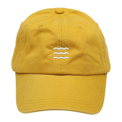 The Rivertown Inkery Hat Mustard Waves Cap