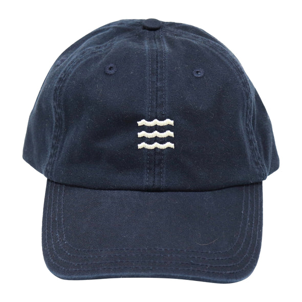 The Rivertown Inkery Hat Navy Waves Cap