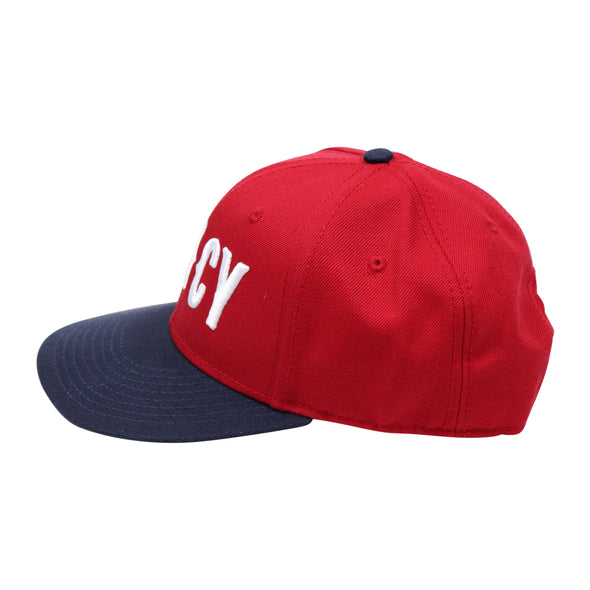 The Rivertown Inkery Hat Nvy/Red/Red CINCY Wool Blend Snapback Hat