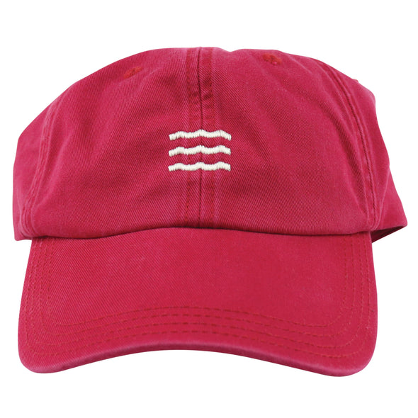 The Rivertown Inkery Hat Red Waves Cap
