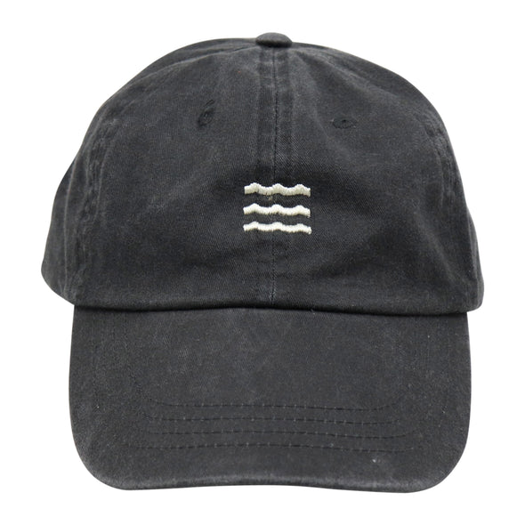 The Rivertown Inkery Hat Washed Black Waves Cap