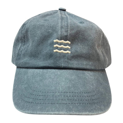 The Rivertown Inkery Hat Washed Navy Waves Cap