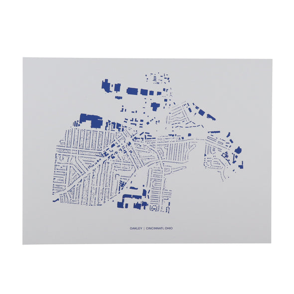 The Rivertown Inkery LLC Hand-pulled Screen Print Oakley Footprint Map Print