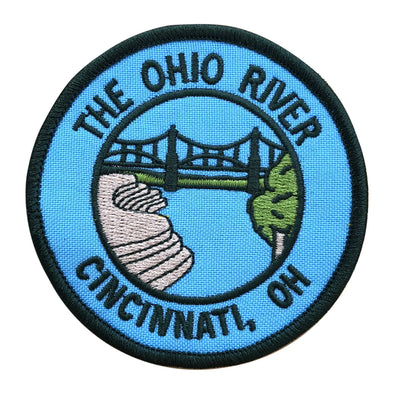 The Rivertown Inkery Patch Ohio River Iron-on Patch
