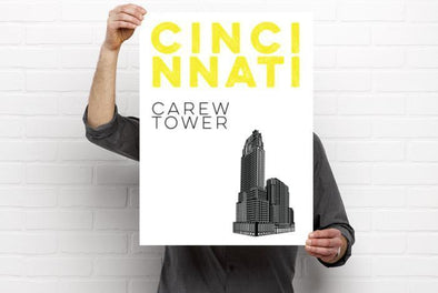 The Rivertown Inkery Poster Carew Tower Poster (Digital Print)