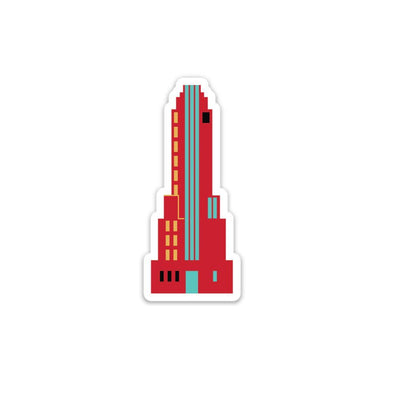 The Rivertown Inkery Sticker Carew Tower Retro Deco Sticker