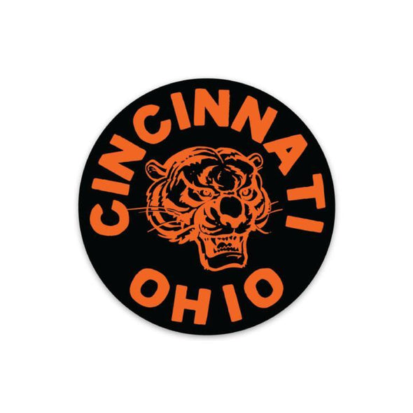 The Rivertown Inkery Sticker Cincinnati Ohio Tiger Sticker