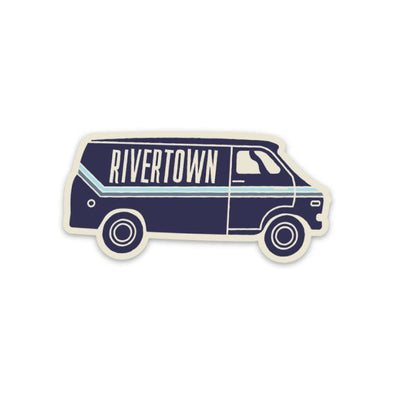 The Rivertown Inkery Sticker Delivery Van Sticker