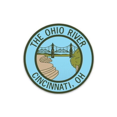 The Rivertown Inkery Sticker Ohio River Sticker