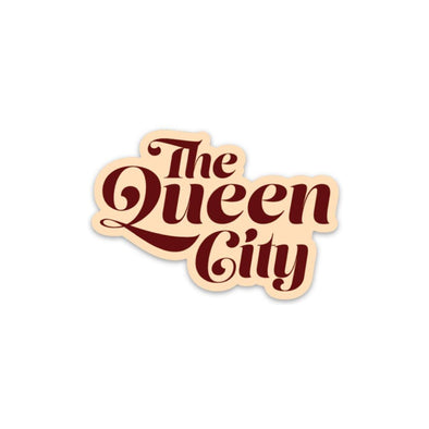 The Rivertown Inkery Sticker The Queen City Sticker (Retro Edition)