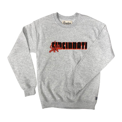 The Rivertown Inkery Sweatshirt Cincinnati Bengal Tiger Crewneck