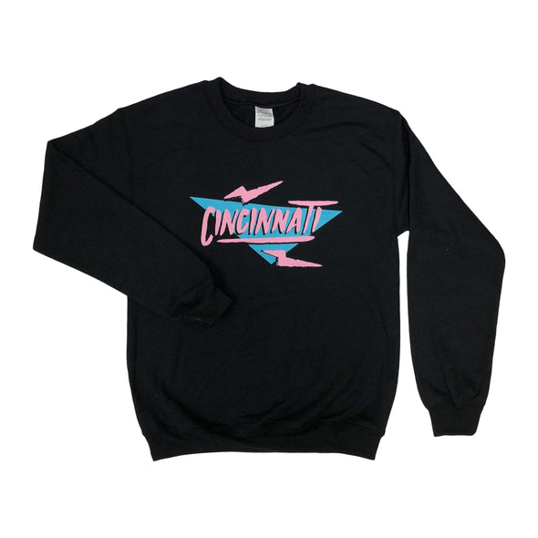 The Rivertown Inkery Sweatshirt Electric 90's Cincinnati Crewneck