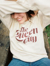 The Rivertown Inkery Sweatshirt Queen City Retro Sweatshirt