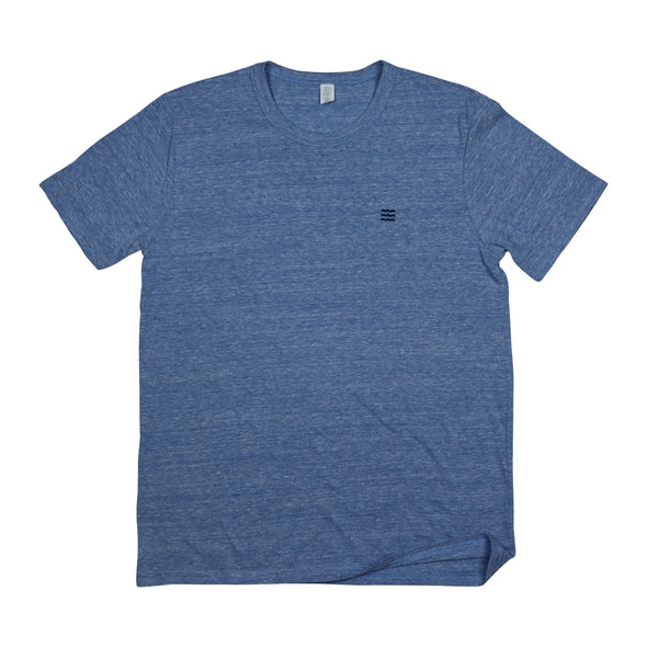 The Rivertown Inkery T-Shirt Extra Small / Blue Waves Basic Tee (Eco Triblend)