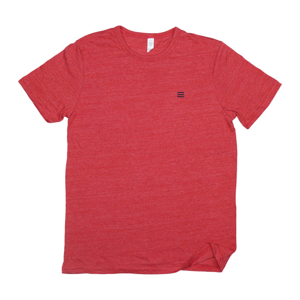 The Rivertown Inkery T-Shirt Extra Small / Red Waves Basic Tee (Eco Triblend)