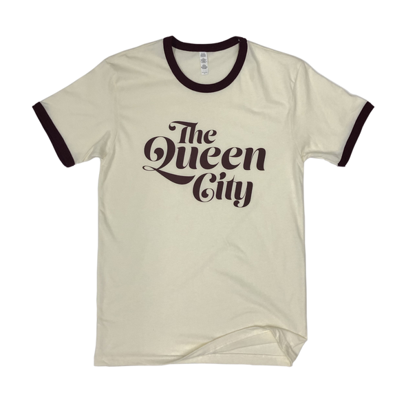 The Rivertown Inkery T-Shirt Queen City Retro Ringer Tee