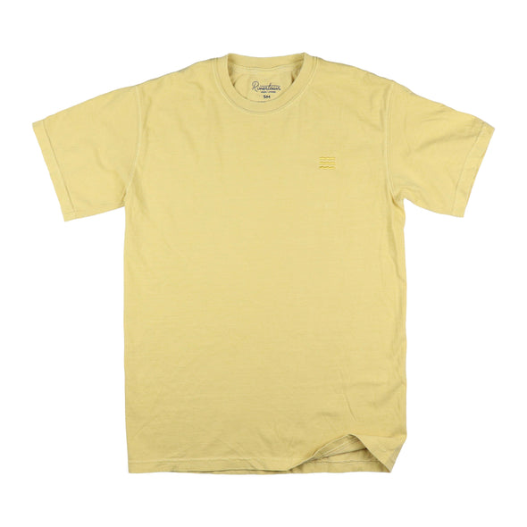 The Rivertown Inkery T-Shirt Small / Mustard Waves Vintage Wash Tee