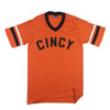 The Rivertown Inkery T-Shirt Small / Orange Cincy Ringer Tee