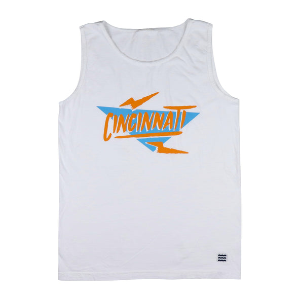 The Rivertown Inkery Tank Tops Electric 90's Cincinnati Tank