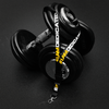 Dedicated Nutrition lanyard on dumbbells