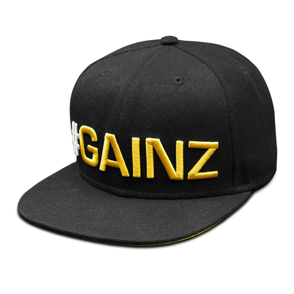 Dedicated Snapback Hat #Gainz