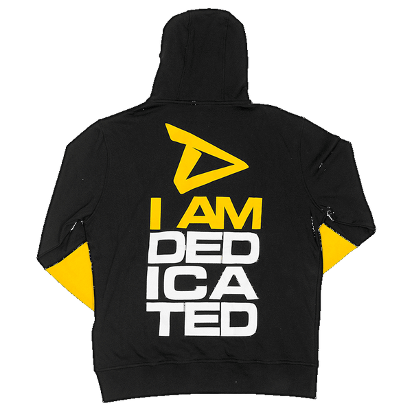 Pull Over Hoodie with I Am Dedicated print on back side