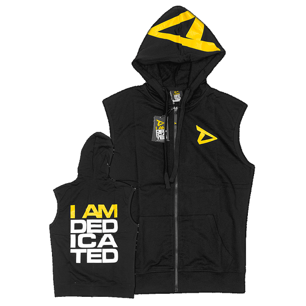 Durable sleeveless Hoodie by Dedicated Nutrition