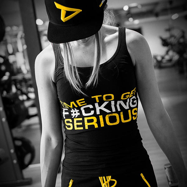 Dedicated Womens Stringer Time To Get F#cking Serious