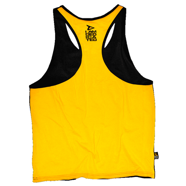 Dedicated Stringer (Yellow Back) Dedicated Logo Back