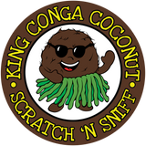 King Conga Coconut Sticker Pack