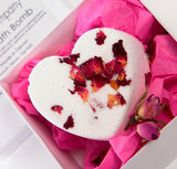 Geranium & Rose Petal Bath Bomb Heart