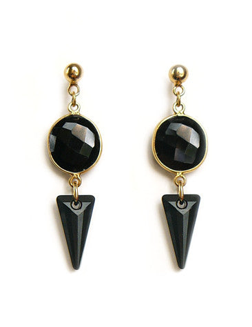 Spike Onyx earrings