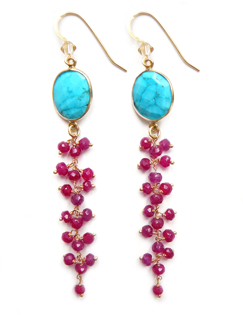 Sea Ruby earrings