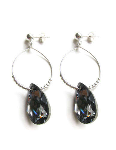 Crystal Night earrings