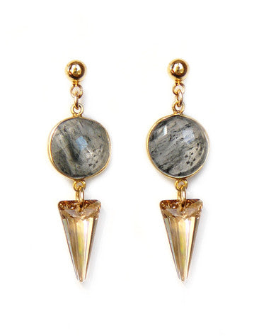 Spike Quartz earrings