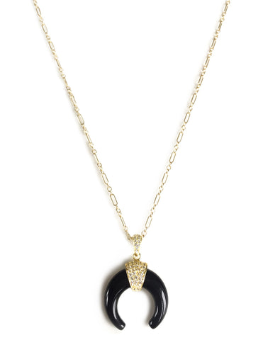 Onyx Moon necklace