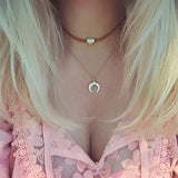Mini Crescent Pearl necklace