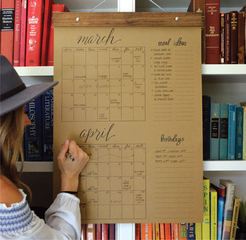 Big Write-In Calendar (Kraft)
