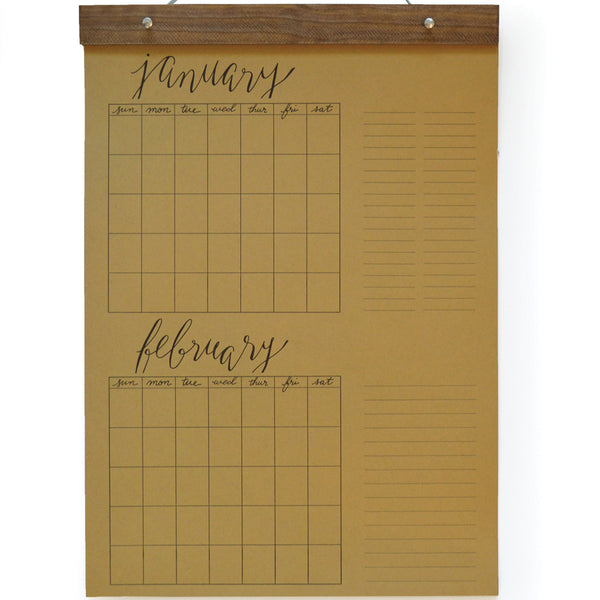Big Write-In Calendar Refill Pages (Kraft)