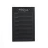 Menu Calendar Notepad - Black