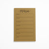 Menu Calendar Notepad - Kraft
