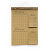 Groceries Calendar Notepad - Kraft