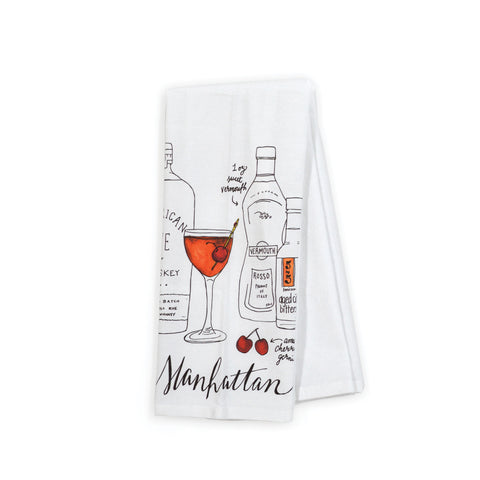 Manhattan Classic Cocktail Tea Towel