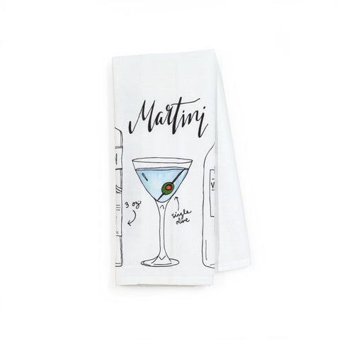 Martini Classic Cocktail Tea Towel